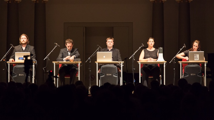 EXAUDI performing at Darmstadt Summer Course 2012.  Photo © Daniel Pufe